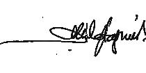 Alfonso Mila Sagnier. Firma