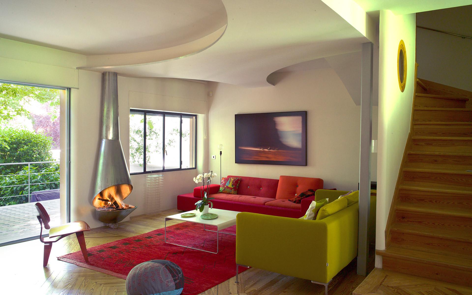 Chimenea Articulare color inox en pared