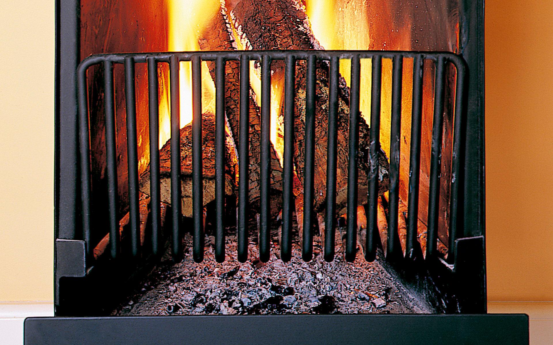 Chimenea Capilla. Detalle del fuego