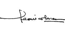 Federico Correa. Firma