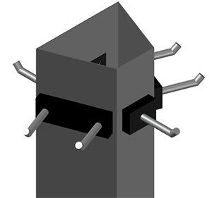 Suspensión fija Trapezoidal