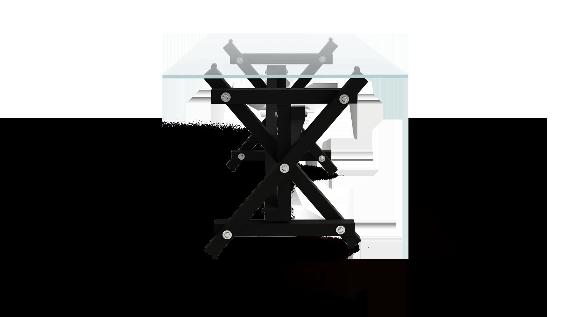 Mesa LDV RAL9004 lateral fondo transparente